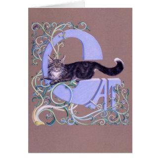 Felis Illumines, by Darlene P. Coltain Greeting Card