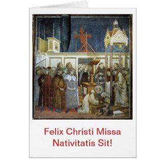 ¡Felix Christi Missa Nativitatis se sienta! Scida Tarjeta De Felicitación