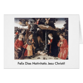 Felix Dies Nativitatis Jesu Christi Christmas Card