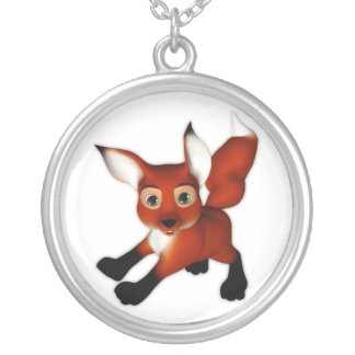 Felix el Fox lindo del dibujo animado Colgante Redondo