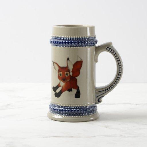 Felix el Fox lindo del dibujo animado Tazas De Café