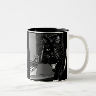 Felix el gato taza de café de dos colores