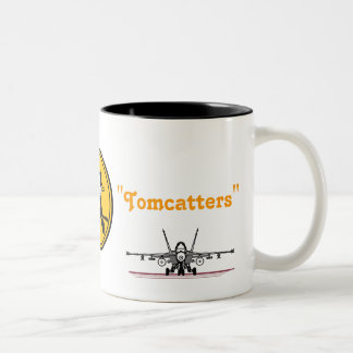 FELIX , F-18 SUPER HORNET, VFA-31 Two-Tone COFFEE MUG