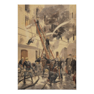 Felix Faure  with the firemen Poster