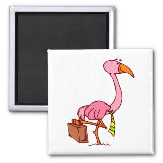 Felix Flamingo Refrigerator Magnet