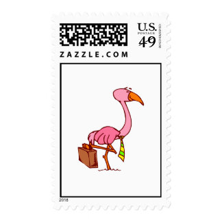 Felix Flamingo Postage Stamps