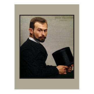 Felix Jasinski que sostiene el gorra por Vallotton Tarjeta Postal