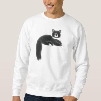 Felix la camiseta negra y blanca del gato suéter