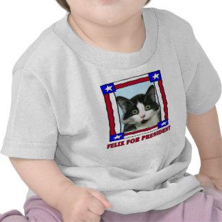 Felix loco el gato para presidente T-Shirt Camisetas