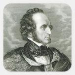 Felix Mendelssohn 2 Pegatina Cuadrada