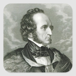 Felix Mendelssohn 2 Square Sticker