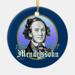 Felix Mendelssohn Adorno Navideño Redondo De Cerámica