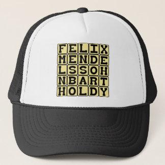 Felix Mendelssohn Bartholdy, German Composer Trucker Hat