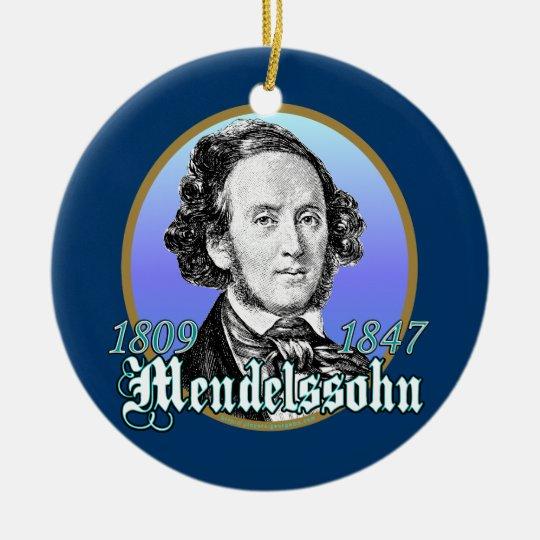 Felix Mendelssohn Ceramic Ornament