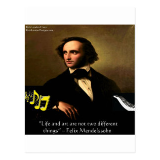 Felix Mendelssohn Life Is Art Quote Gifts & Cards