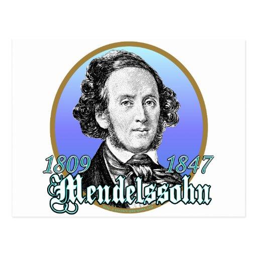 Felix Mendelssohn Postcard