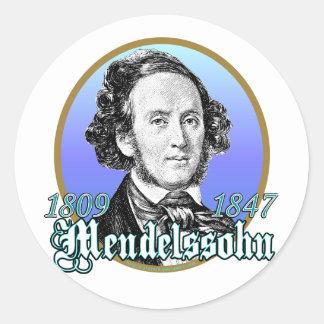 Felix Mendelssohn Classic Round Sticker