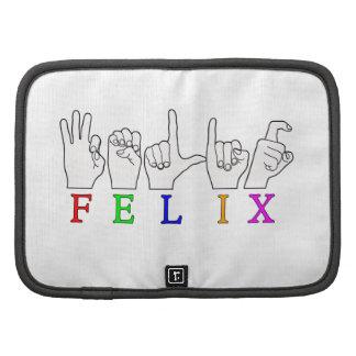 FELIX NAME ASL FINGER SPELLED PLANNER