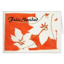 Felix Navidad - Poinsetia Card