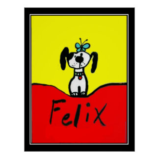 Felix The Dog Art Deco Vintage Poster