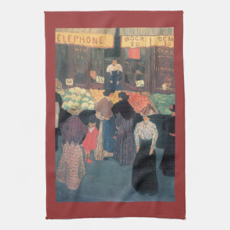 Felix Vallotton - At the market Kitchen Towel