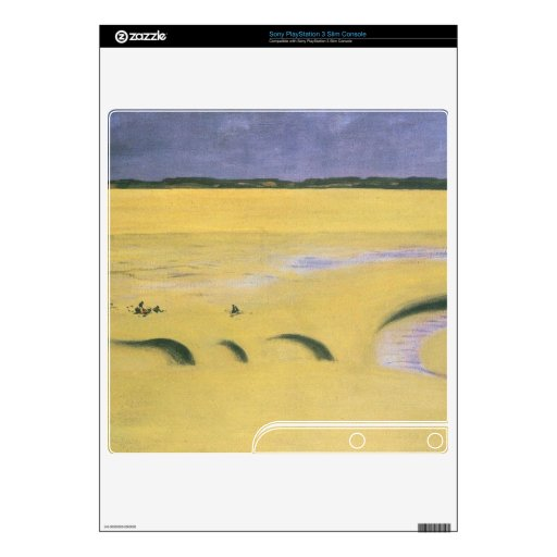 Felix Vallotton - Beach at low tide PS3 Slim Console Decal