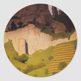 Felix Vallotton - Chateau Gaillard at Andelys Classic Round Sticker
