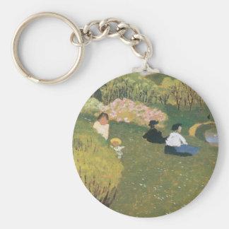 Felix Vallotton - Children at a pond Keychains