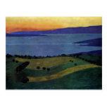 Felix Vallotton - el lago Leman, efecto de la tard Tarjetas Postales