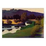 Felix Vallotton - Evening on the Loire Greeting Cards
