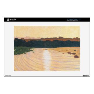 """Felix Vallotton - Evening scene 13"""" Laptop Skin"""