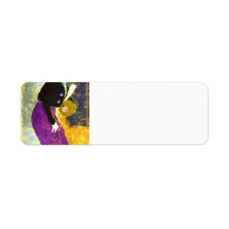 Felix Vallotton - In The Street Woman with Muff Return Address Labels