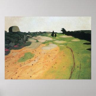 Felix Vallotton-Landscape in Breton Poster
