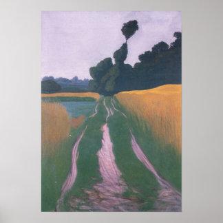 Felix Vallotton-Landscape in Regen Poster