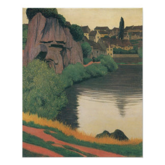Felix Vallotton-Landscape Semur Poster