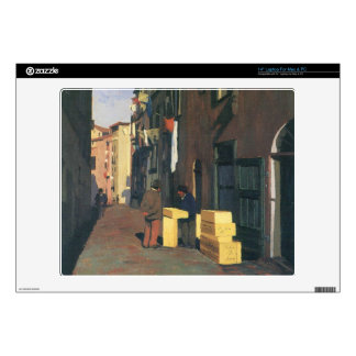 Felix Vallotton - Old street in Nice France Decals For Laptops