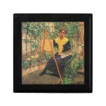 Felix Vallotton - pintura de la mujer joven Cajas De Recuerdo