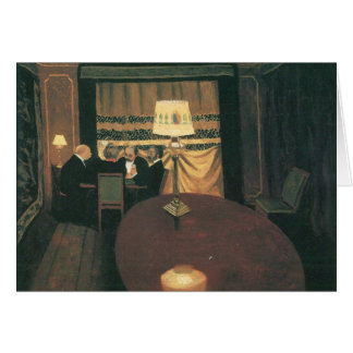 Felix Vallotton - Poker players Stationery Note Card