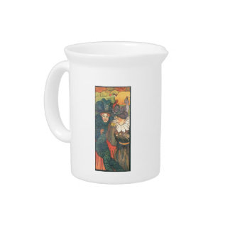 Felix Vallotton - Stained Glass Design Drink Pitcher