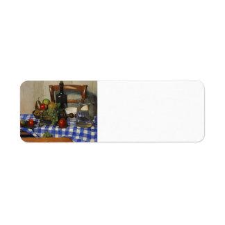 Felix Vallotton - Still Life with Blue Tablecloth Labels
