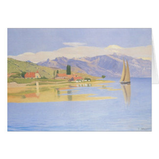 Felix Vallotton - The port of Pully Stationery Note Card