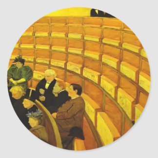 Felix Vallotton : The Third Gallery at The Theatre Classic Round Sticker