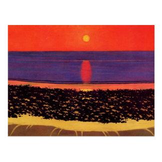 Felix Vallotton - To lay down sun with Villerville Postcard