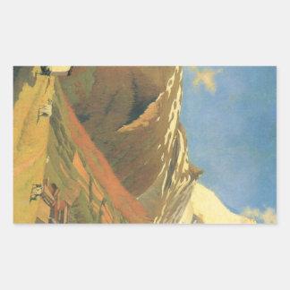Felix Vallotton - View of Zermatt Rectangular Sticker