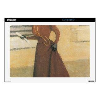 "Felix Vallotton - Woman with hat 17"" Laptop Skin"