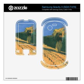 Felix Vallotton - Wood-bearing women Samsung Gravity 3 Decals