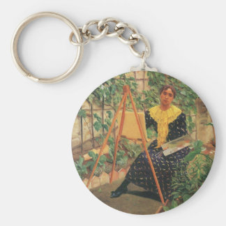 Felix Vallotton - Young woman painting Keychain