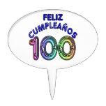 Feliz 100o Cumpleaños Decoración Para Tarta