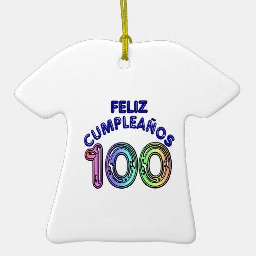 Feliz 100o Cumpleaños Ornamente De Reyes
