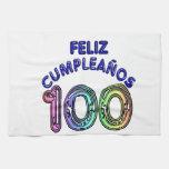 Feliz 100o Cumpleaños Toalla De Mano